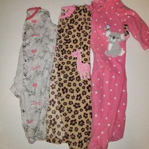 Baby Girl One Piece Pajamas Bundle